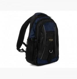 GRANATOWO-CZARNY Solidny 3KOMOROWY plecak miejski SPORTOWY duży M83