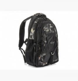 MORO-CZARNY Solidny 3KOMOROWY plecak miejski SPORTOWY duży M83