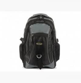 SZARO-CZARNY Solidny 3KOMOROWY plecak miejski SPORTOWY duży M83
