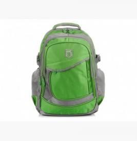 ZIELONO-SZARY solidny 3KOMOROWY plecak miejski SPORTOWY A4 N61