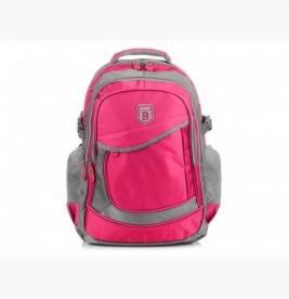 RÓŻOWO-SZARY solidny 3KOMOROWY plecak miejski SPORTOWY A4 N61