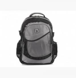 SZARO-CZARNY solidny 3KOMOROWY plecak miejski SPORTOWY A4 N61