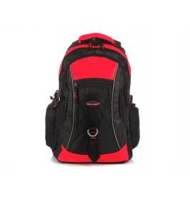 CZARNO-CZERWONY Solidny 3KOMOROWY plecak miejski SPORTOWY duży M83