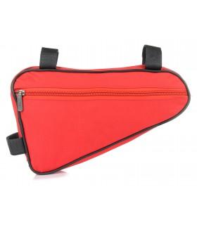 Czerwona dwustronna saszetka sakwa rowerowa torba pod ramę I96