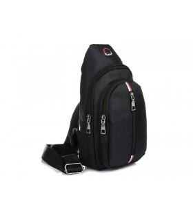 Saszetka nerka przez ramię plecak torba HIT czarny X96