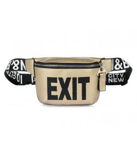 nerka saszetka HIT torba na pas przez ramię złota exit X76