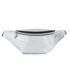Holo łatka nerka saszetka damska biodrówka srebrna HIT X97