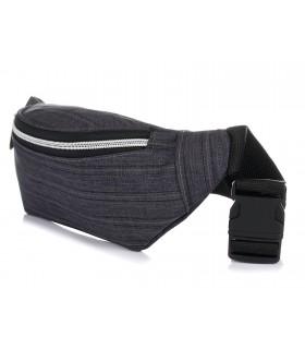 Szara saszetka biodrówka nerka jeans P73