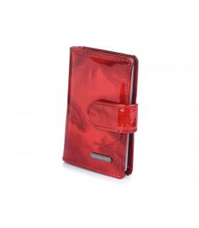 Alessandro czerwone etui skórzane na karty dokumenty wizytownik Q58