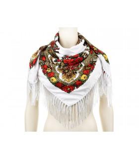 Duża góralska chusta frędzel MODNA Folk wzory Apaszka Q71