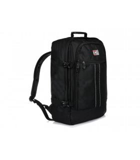 Czarny Plecak Podróżny Samolotowy Bagaż podręczny Solidny Q74