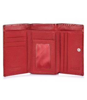 CZERWONY Alessandro Paoli damski portfel skórzany RFID G02