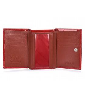 Czerwony Damski Mały portfelik skórzany Alessandro Paoli RFID G15