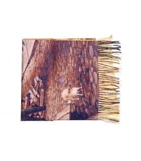 Ciepły Szal damski szalik wielokolorowy obraz malarski duży Q99