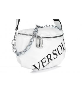 Biała saszetka nerka przez ramię plecak torba modna B18