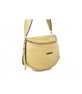 Złota saszetka nerka przez ramię torba pikowana B31