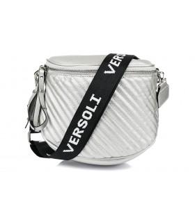 Srebrna saszetka nerka przez ramię plecak torba HIT X74
