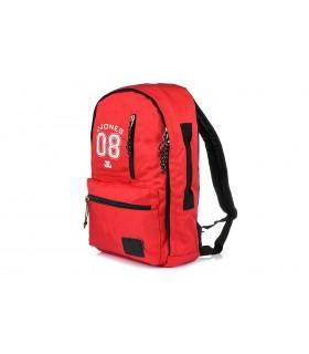 Czerwony plecak sportowy do pracy szkoły J. Jones F85