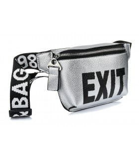 nerka saszetka HIT torba na pas przez ramię srebrna exit X76