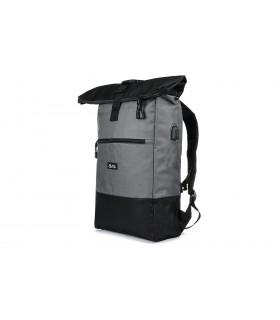Szary Plecak Miejski na laptopa Trekkingowy Pojemny Solidny B51