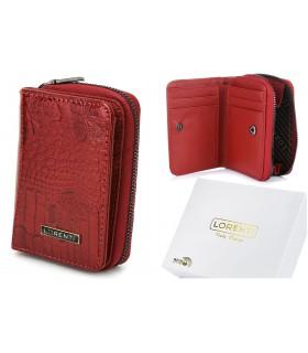 Czerwony mały portfel damski skórzany lakierowany B07