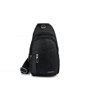 Czarna Saszetka nerka przez ramię plecak torba modna B57