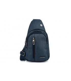 Granatowa Saszetka nerka przez ramię plecak torba modna B60