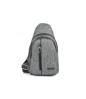 Szara Saszetka nerka przez ramię plecak torba modna B60