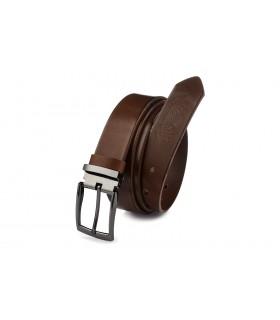 Pasek skórzany męski do spodni szeroki brązowy Beltimore A58