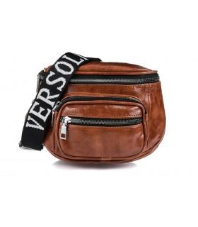 Brązowa saszetka nerka przez ramię torba na pasku pojemna B78