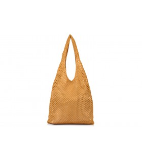 Camelowy worek Plażowy zakupowy A4 na lato torba bawełna C70