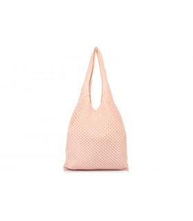 Różowy worek Plażowy zakupowy A4 na lato torba bawełna C70