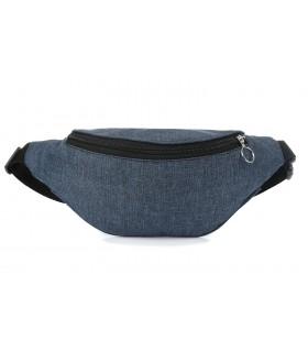 Niebieski jeans Saszetka nerka młodzieżowa biodrowa Polska 004