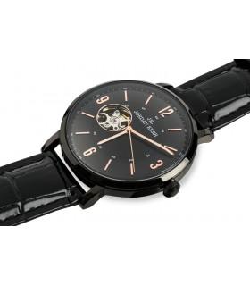 Zegarek męski automat Seico Jordan Kerr czarny pasek skórzany X92