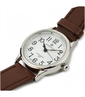 Zegarek damski na rękę pasek skórzany brązowy Perfect 273