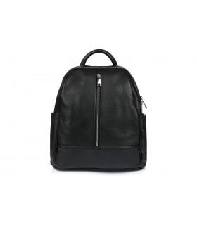 Czarny Włoski Plecak Skórzany A4 damski pojemny solidny C78