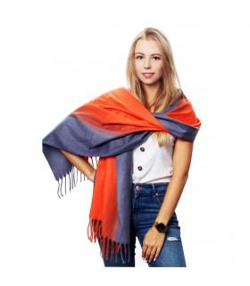 Bawełniany duży szalik damski ciepły z frędzlami chusta szal D05