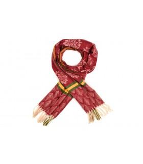 Czerwony Bawełniany duży szalik damski ciepły szal elegancki D09