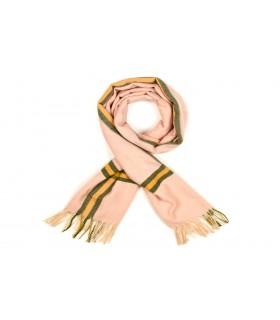 Różowy Bawełniany duży szalik damski ciepły szal elegancki D09