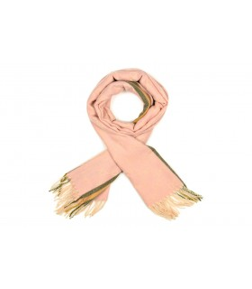 Różowy Bawełniany duży szalik damski ciepły szal elegancki D12