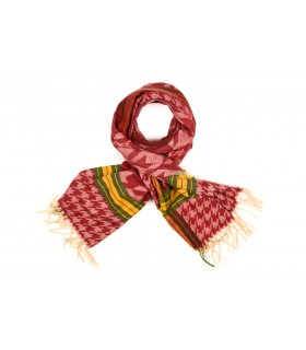 Czerwony Bawełniany duży szalik damski ciepły szal krata D13