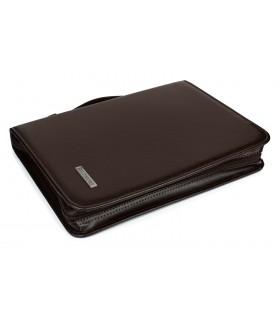 Brązowy Beltimore luksusowy męski biwuar aktówka teczka organizer brązowy kalkulator I57