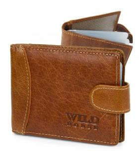 Etui skórzane na dokumenty karty wizytówki Wild Horse z RFiD camel C85