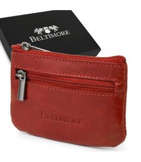 Czerwone skórzane etui na klucze z pudełkiem Beltimore E44