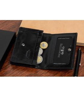 Etui na wizytówki karty czarne skórzane portfel slim Beltimore G94