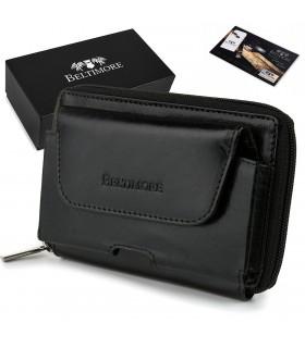 Etui kabura portfel na dokumenty karty czarne skórzane Beltimore G92