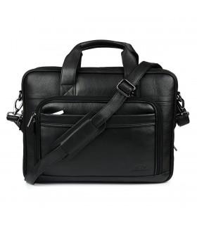 Duża solidna skórzana torba Beltimore na laptopa dokumenty M56