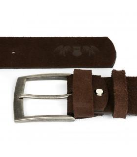 BELTIMORE męski pasek skórzany pudełko zamszowy brązowy A93