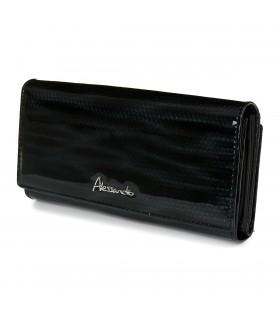 Czarny portfel damski skórzany duży elegancki RFID Z23
