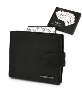 Męski portfel skórzany czarny klasyczny RFiD Beltimore P92